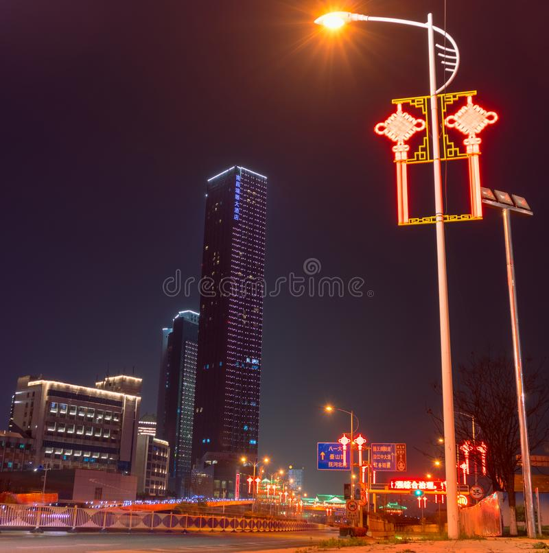 Le coin de la ville de Nan-Tchang photos libres de droits