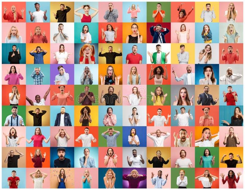Le collage des personnes étonnées images libres de droits