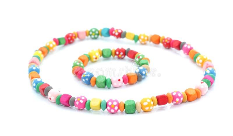 Le collier et le bracelet des enfants photo stock