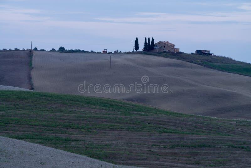 Le colline della Toscana, Italia immagine stock libera da diritti