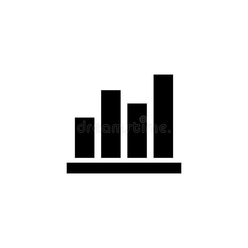 Le colonne rappresentano graficamente l'icona piana di vettore illustrazione vettoriale