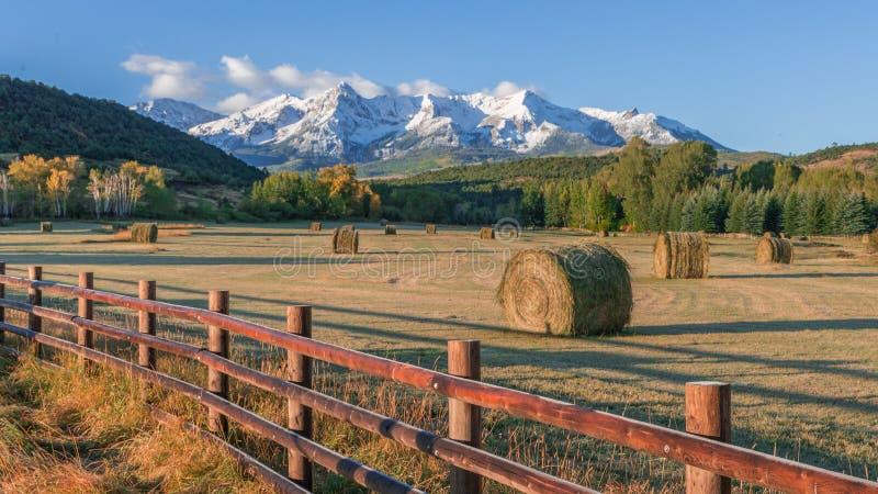 Le Colorado Hay Bails photographie stock libre de droits