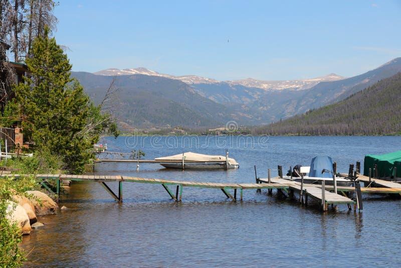 Le Colorado - lac mountain d'ombre photo libre de droits