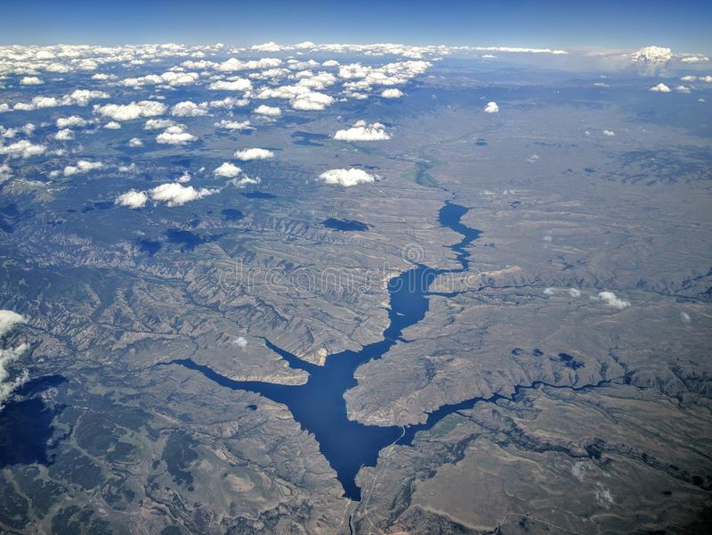 Le Colorado occidental d'en haut photos stock