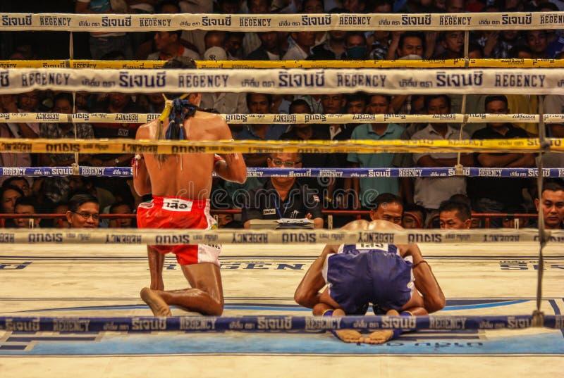 Le combat thaïlandais muay dans le monde entier célèbre, Thaïlande images libres de droits