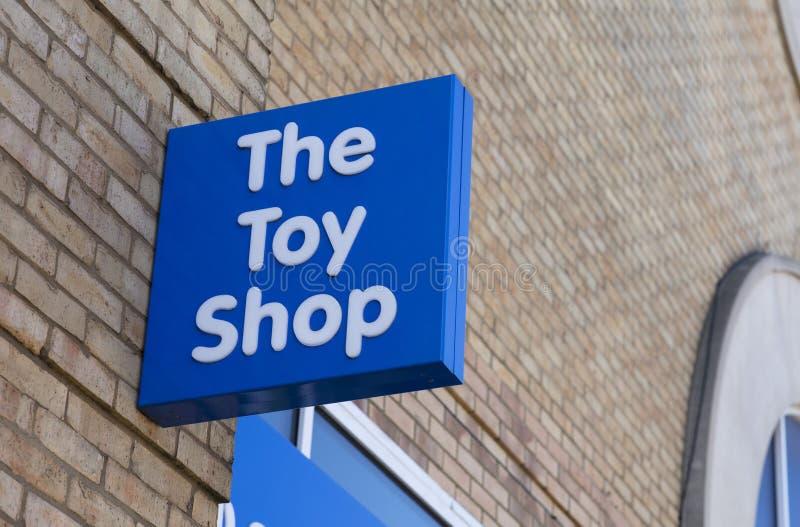 Le comique, le signe de boutique de jouet photographie stock