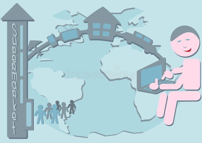 Le commerce d'Internet illustration libre de droits
