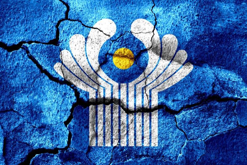 Le Commonwealth s'est rouillé drapeau de texture, fond rouillé illustration libre de droits