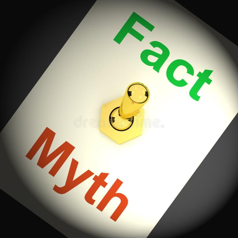 Le commutateur de mythe de fait montre des réponses honnêtes correctes illustration stock