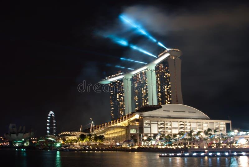 Le compartiment de marina de Singapour sable la ressource d'hôtel photos stock