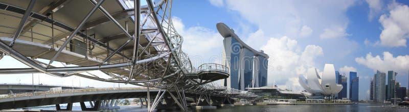 Le compartiment de marina de Singapour sable le panorama images libres de droits