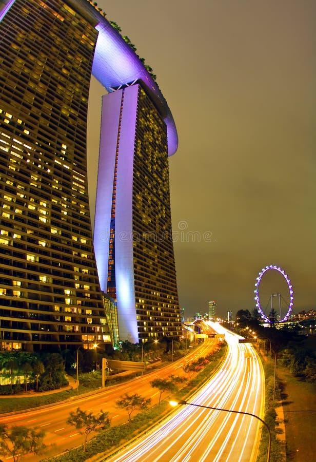 Le compartiment de marina sable Singapour images libres de droits