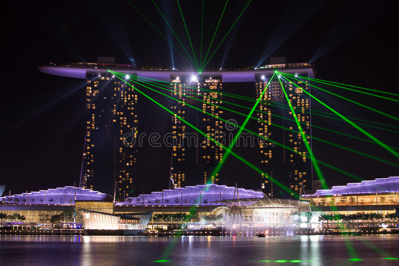 Le compartiment de marina sable Singapour photo libre de droits