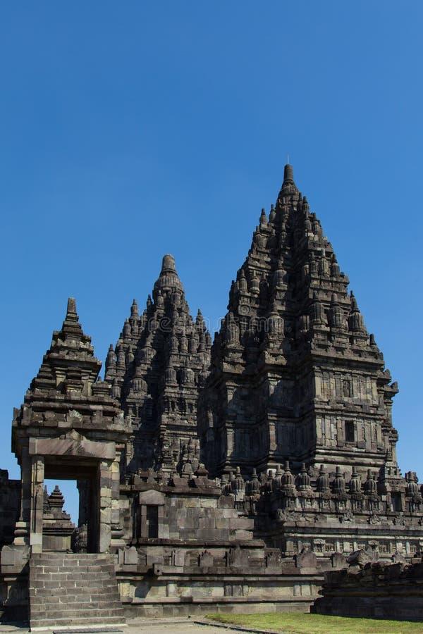 Le complexe de temple antique de Prambanan image stock