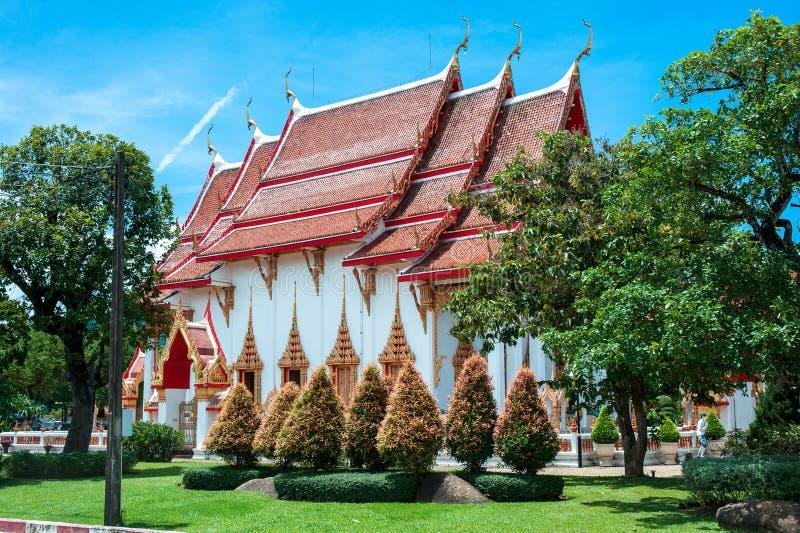 Le complexe de temple de Wat Chalong à Phuket, Thaïlande images libres de droits