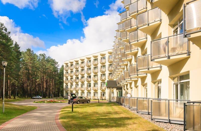 Le complexe des bâtiments du sanatorium médical de station thermale Druskininkai photos libres de droits