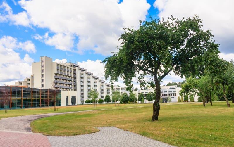 Le complexe des bâtiments du sanatorium médical de station thermale Druskininkai image stock