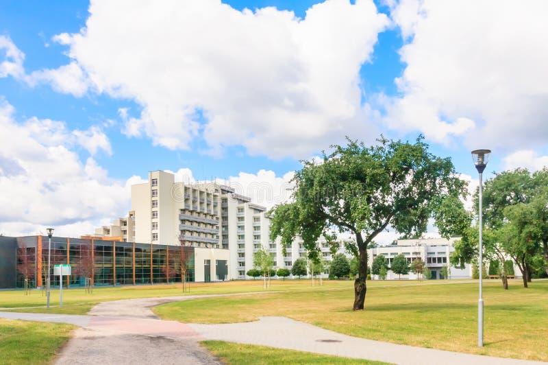 Le complexe des bâtiments du sanatorium médical de station thermale Druskininkai photo libre de droits