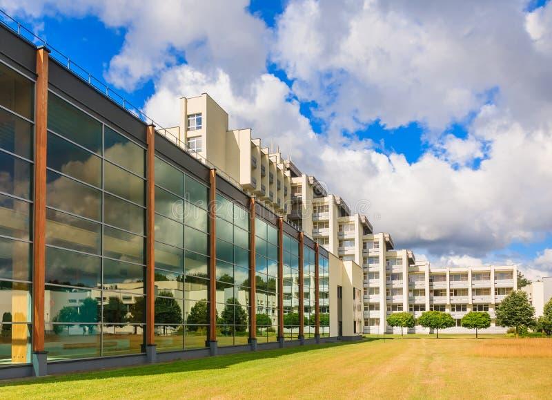 Le complexe des bâtiments du sanatorium médical Druskininkai de station thermale photos libres de droits