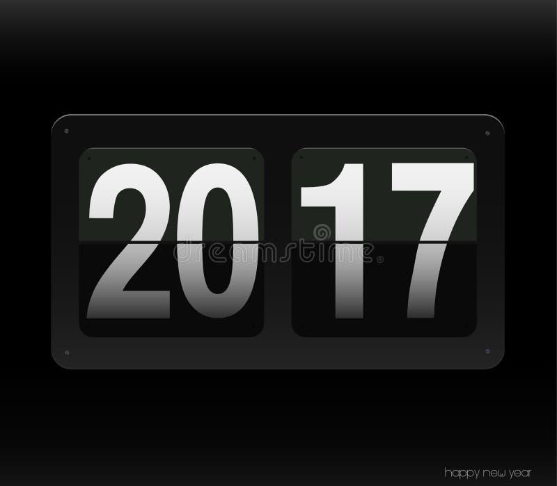 Le compte synchronisent vers le bas avec 2017 ans illustration de vecteur