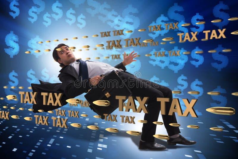 Le concept d'affaires de la charge de paiements d'impôts photographie stock libre de droits