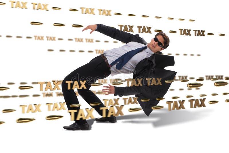 Le concept d'affaires de la charge de paiements d'impôts images stock