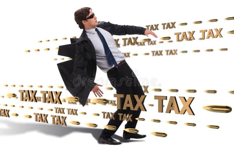 Le concept d'affaires de la charge de paiements d'impôts photos libres de droits