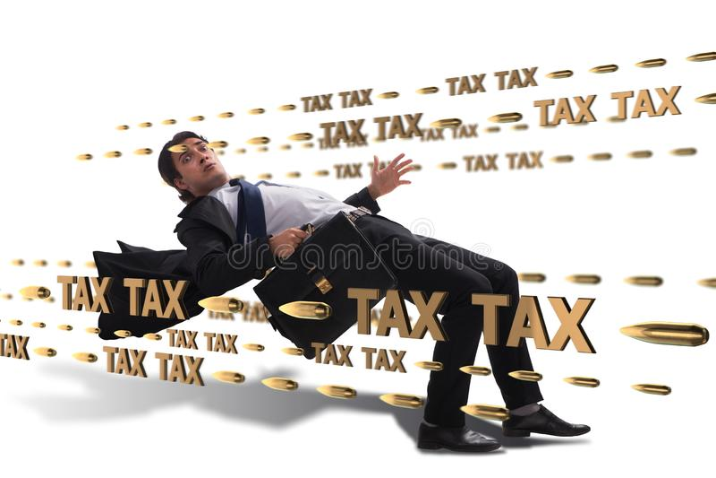 Le concept d'affaires de la charge de paiements d'impôts photo libre de droits