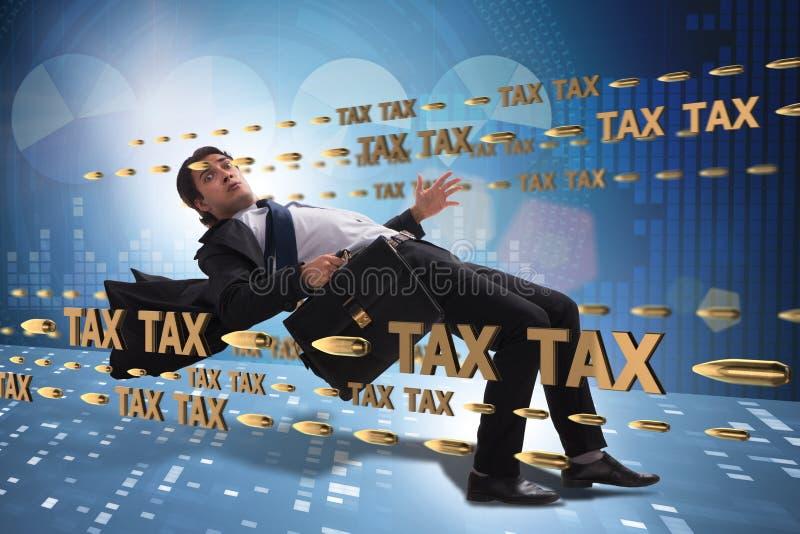 Le concept d'affaires de la charge de paiements d'impôts photographie stock