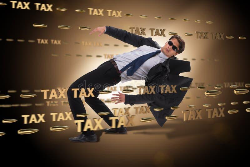 Le concept d'affaires de la charge de paiements d'impôts images libres de droits
