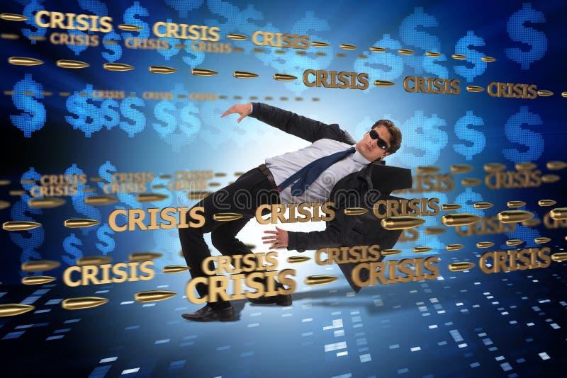 Le concept d'affaires de la crise et de la récession image stock