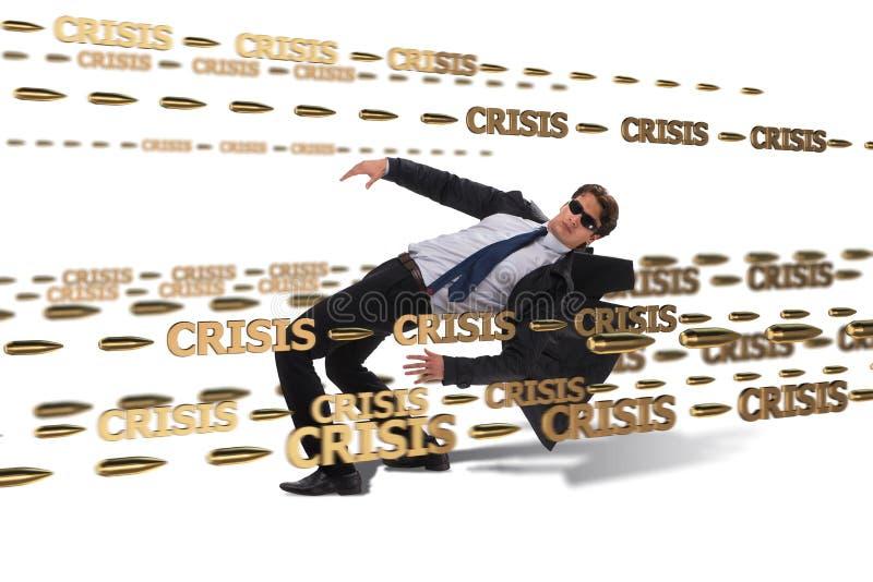 Le concept d'affaires de la crise et de la récession image libre de droits