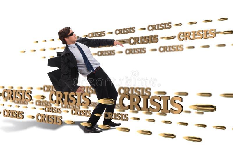Le concept d'affaires de la crise et de la récession photos stock