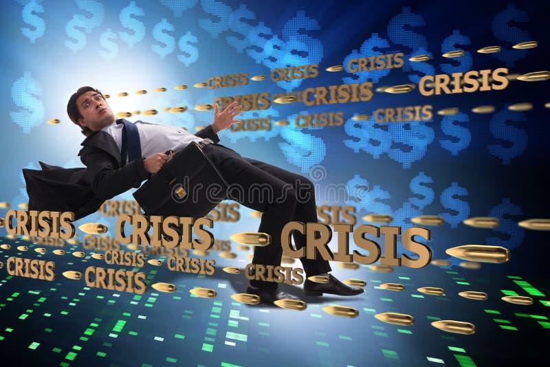 Le concept d'affaires de la crise et de la récession images stock