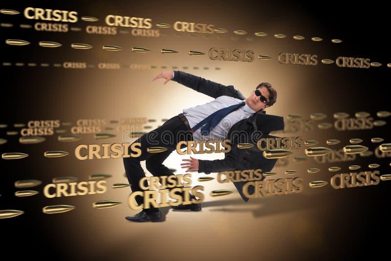 Le concept d'affaires de la crise et de la récession photographie stock libre de droits
