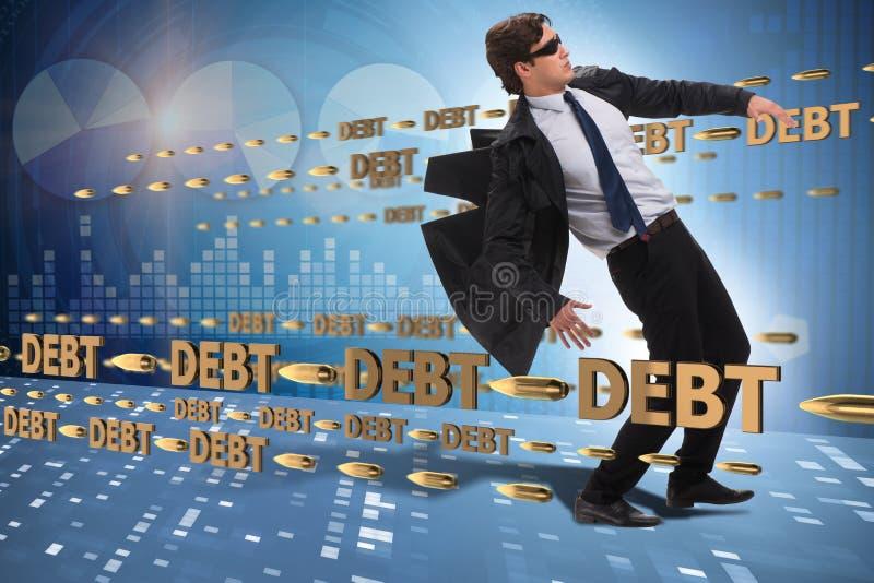 Le concept d'affaires de la dette et de l'emprunt image stock