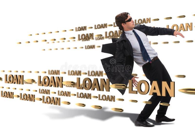 Le concept d'affaires de la dette et de l'emprunt image libre de droits