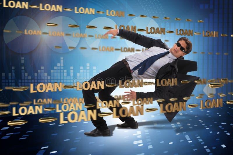 Le concept d'affaires de la dette et de l'emprunt photos stock