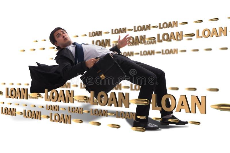 Le concept d'affaires de la dette et de l'emprunt images libres de droits