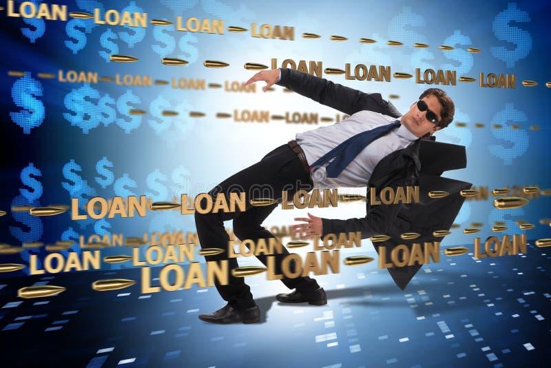 Le concept d'affaires de la dette et de l'emprunt photos libres de droits