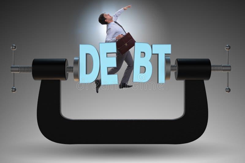Le concept d'affaires de la dette et de l'emprunt illustration de vecteur