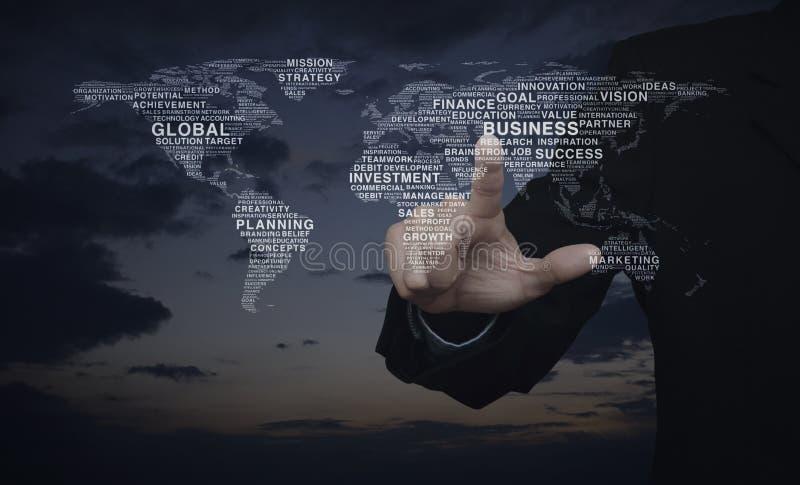 Le concept d'affaires globales, éléments de cette image a fourni par la NASA photographie stock