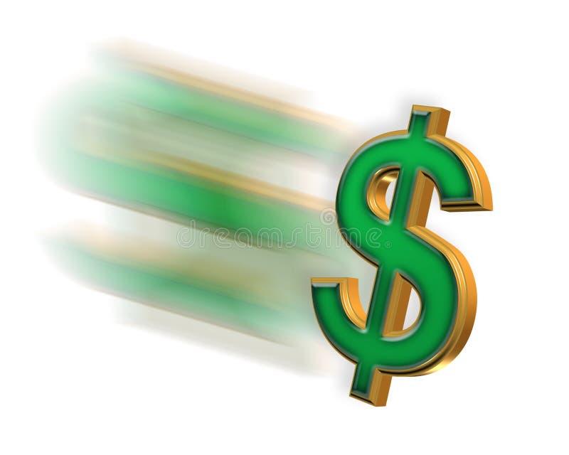 le concept d'affaires jeûnent argent illustration stock