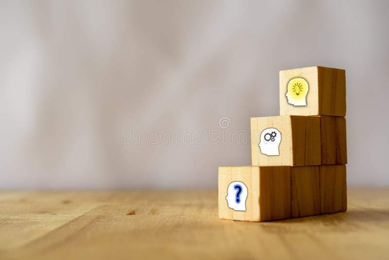 Le concept d'affaires, la structure du problème, analysent, et ont l'idée étape-par-étape photos stock