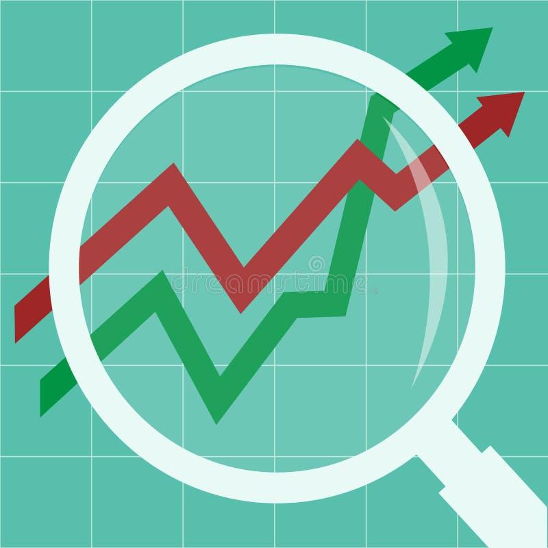 Le concept d'analyse de données commerciales illustration stock