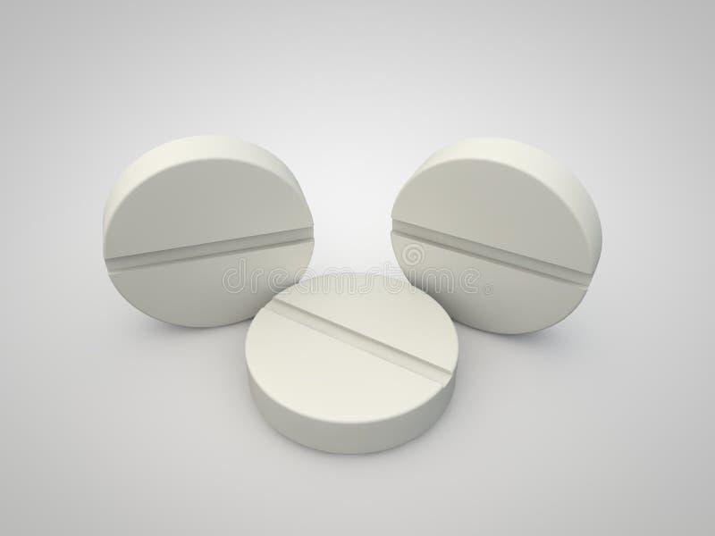 Le concept d'une drogue sur un blanc illustration de vecteur