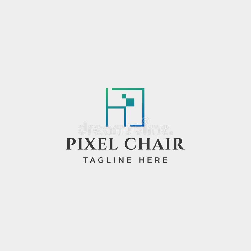 le concept de construction de logo de pixel de chaise pour le vecteur de soci?t? de technologie a isol? illustration libre de droits