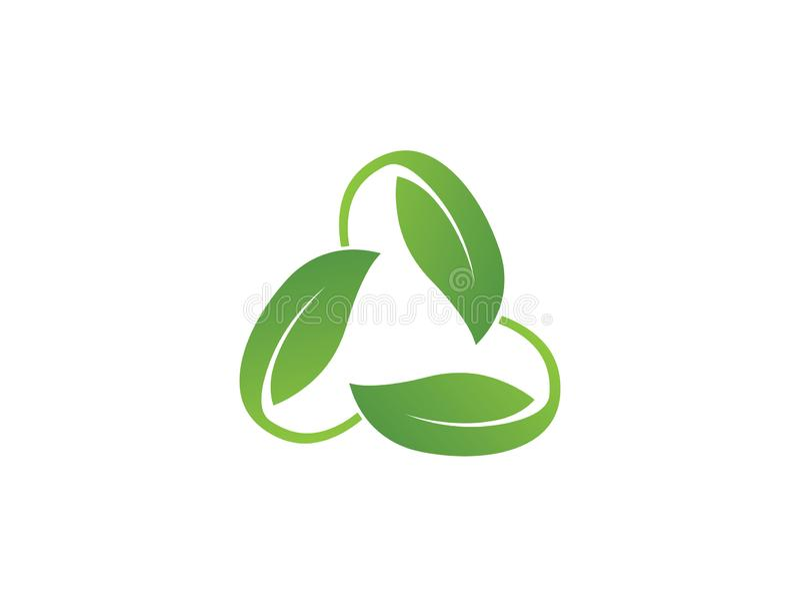 Le concept de construction de logo s'est rapporté à l'écologie et réutilise avec le texte illustration stock