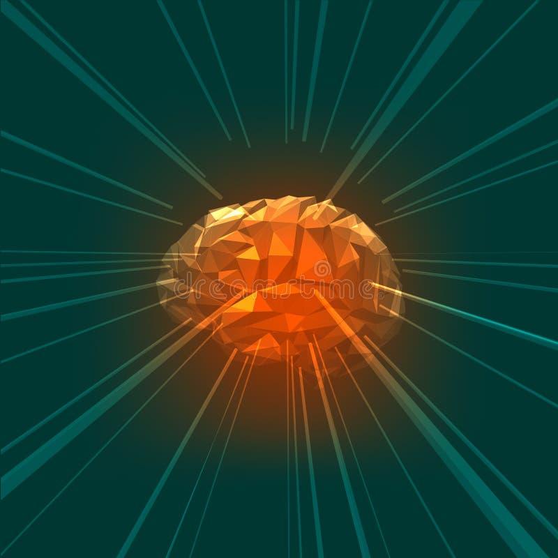Le concept de l'esprit humain actif avec des rayons illustration de vecteur