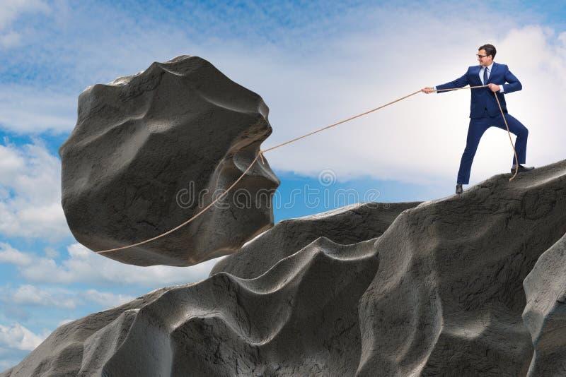 Le concept de l'homme d'affaires dans la détermination élevée illustration de vecteur